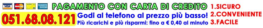 NUMERO EROTICO CON CARTA DI CREDITO